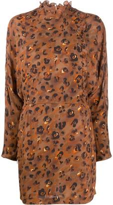 Lala Berlin leopard print long-sleeve dress