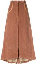 Nina Ricci high-waisted corduroy skirt