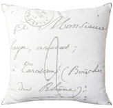 Surya French Script Pillow