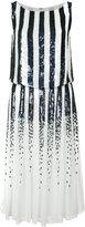 Carolina Herrera striped sequinned dress