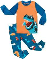 DDSOL Little Boys Pajamas Dinosaur Kids Pjs Sets Cotton Toddler Sleepwears 5