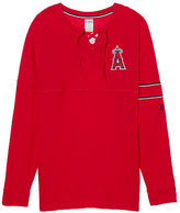 PINK Los Angeles Angels Bling Lace-up Varsity Crew
