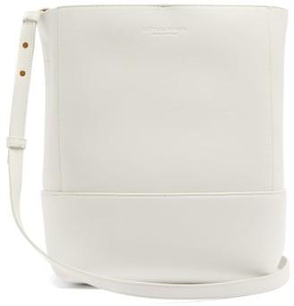Bottega Veneta Logo-debossed Leather Bucket Bag - White