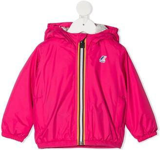 K Way Kids Fleece-Lined Hooded Jacket