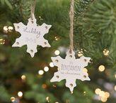 Pottery Barn Kids Personalized Ceramic - Shaped Gold Metallic Snowflake