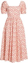 Free People She's A Dream Floral Midi Fit & Flare Dress