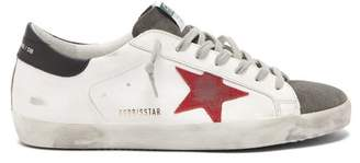 Golden Goose Superstar Leather Trainers - Mens - Red White