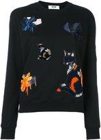MSGM cat patch sweatshirt