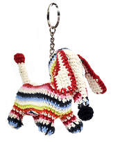 Anne Claire Dachshund Crochet Keyring - Multi