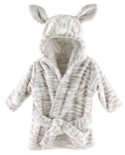 Hudson Baby Plush Hooded Bathrobe, 0-9 Months