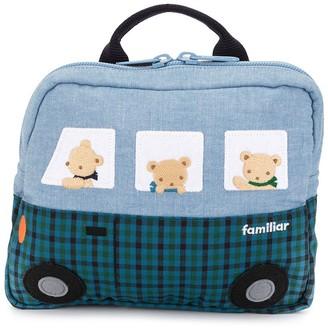 Familiar Denim Bus Backpack