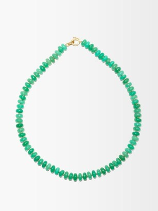 Irene Neuwirth Gumball Chrysoprase & 18kt Gold Necklace - Green Gold