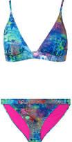 Matthew Williamson Ocean Odyssey Printed Bikini - Turquoise