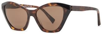 Alain Mikli Ambrette Tortoiseshell Cat-eye Sunglasses