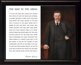 """WeSellPhotos Theodore Teddy Roosevelt """"Man in the Arena"""" Quote Framed Picture (Photo of Color Painting)"""