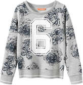 Joe Fresh Kid Girls' Graphic Sweater, Grey Mix (Size L)