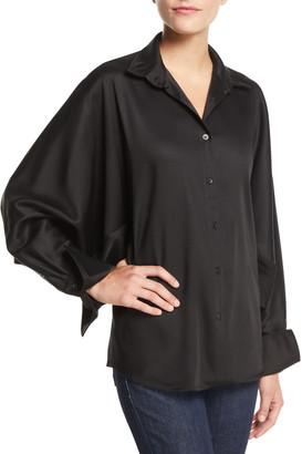 Palmer Harding palmer//harding Solo Point-Collar Twill Button-Front Shirt