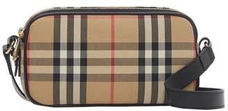 Burberry Mini Checked Canvas Cross-body Bag