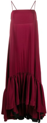 Gianluca Capannolo Flared Sleeveless Maxi Dress