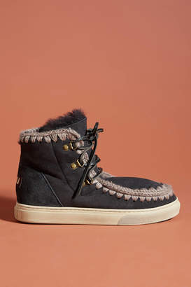Mou Weather-Resistant Lace-Up Booties