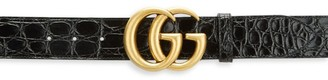 Gucci GG Marmont Crocodile Belt