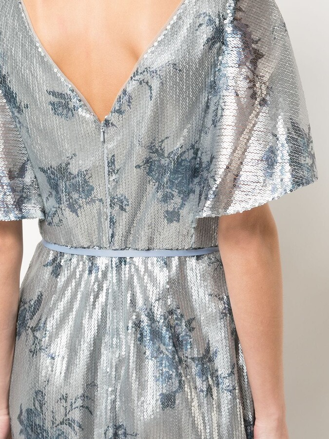 Thumbnail for your product : Marchesa Notte Bridesmaid Floral-Printed Sequin Gown