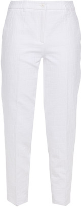 Boutique Moschino Croc-effect Cotton-jacquard Tapered Pants