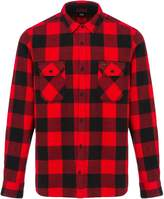 Animal Mens Shovel Checked Shirt