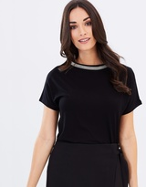Dorothy Perkins Embellished Neck Trim T-Shirt