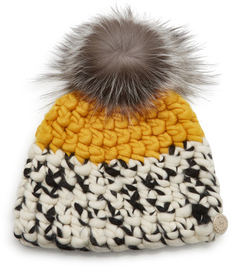 Mischa Lampert Color-Block Wool Beanie