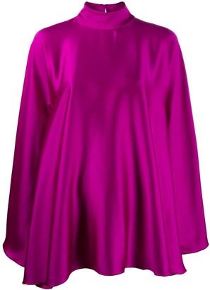 High-Neck Draped Dress