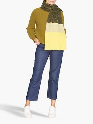 Jigsaw Moulinee Block Scarf, Yellow