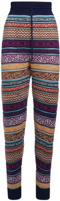 M Missoni All Over Logo Cotton Blend Pants
