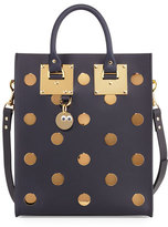Sophie Hulme Albion Mini Polka-Dot Leather Tote Bag, Midnight Navy