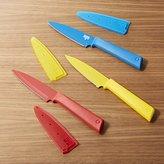 Crate & Barrel Set of 3 Kuhn Rikon Colori ® Plus Prep Knives