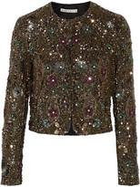 Alice + Olivia Kidman embellished silk jacket