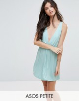 Asos Cross Back Jersey Mini Beach Dress