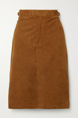 Officine Generale Flora Suede Skirt - Tan