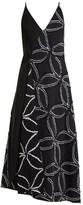 Roland Mouret Hooper Geometric Floral-jacquard Dress - Womens - Navy Multi