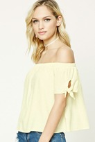 Forever 21 FOREVER 21+ Contemporary Knotted-Sleeve Top