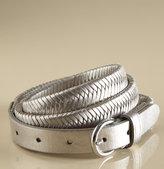 Skinny Braided Belt