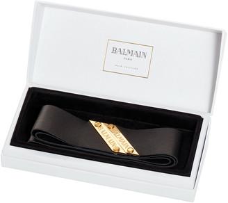 Balmain Paris Hair Couture Genuine Leather Headband