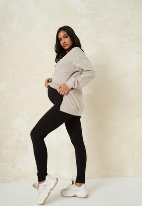 Missguided Black Basic Maternity Leggings 2 Pack