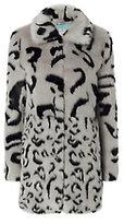 Shrimps Lassie Leopard Pattern Faux Fur Coat