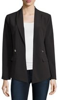 MICHAEL Michael Kors Shawl-Collar Open Blazer, Black