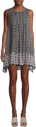 Max Studio Printed Mini Shift Dress