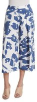KENDALL + KYLIE Pleated-Front Printed Culottes, Tempest