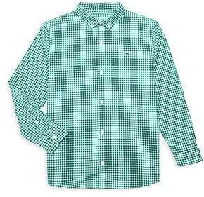 Vineyard Vines Little Boy's & Boy's Arawak Gingham Button-Down Shirt