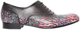 Miharayasuhiro Printed Leather Oxford Lace-Up Shoes