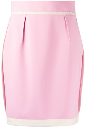 Moschino Contrasting-Hem Mini Skirt